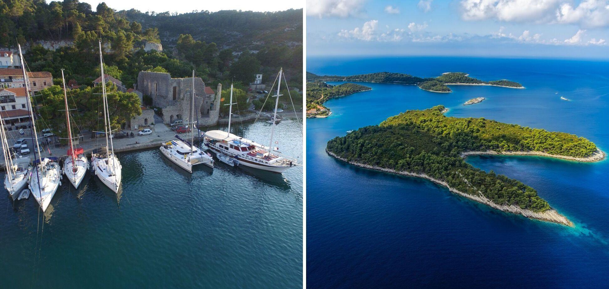 Млет. Один із найкрасивіших островів Хорватії, де побували цього разу Наташа та Леонід.