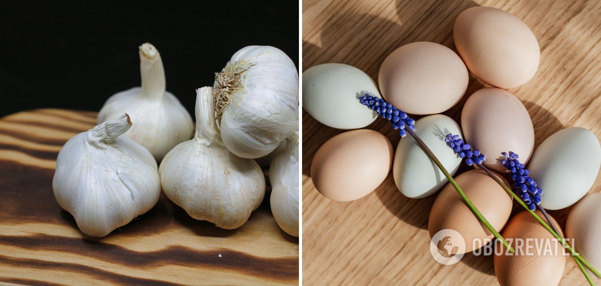 Не по вкусу к вину – яйца и чеснок