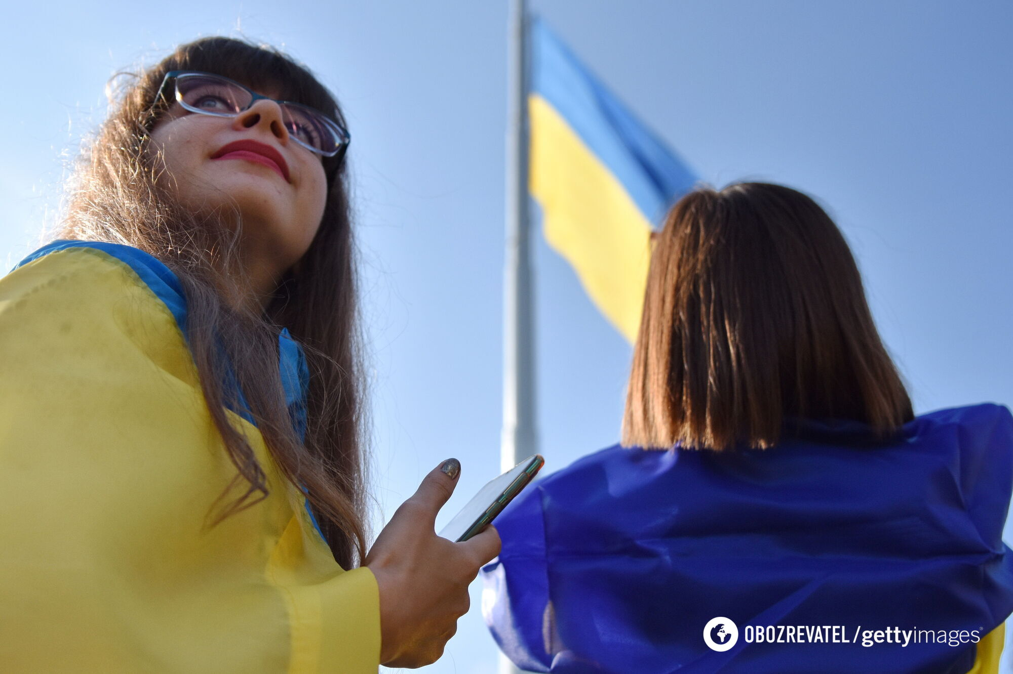 Украинки во время празднования Дня Независимости