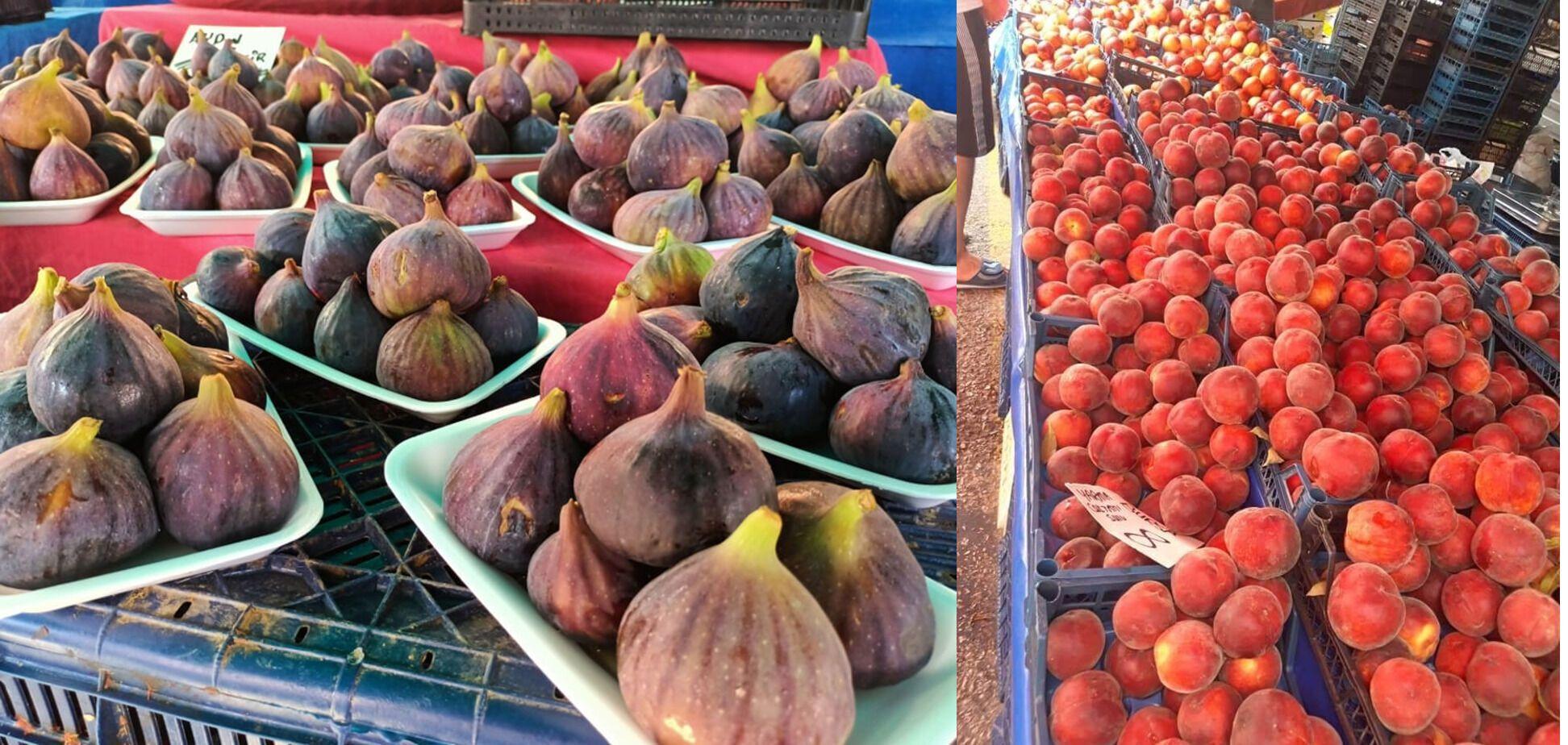 Инжир и персики на местном рынке тоже стоят дешево.