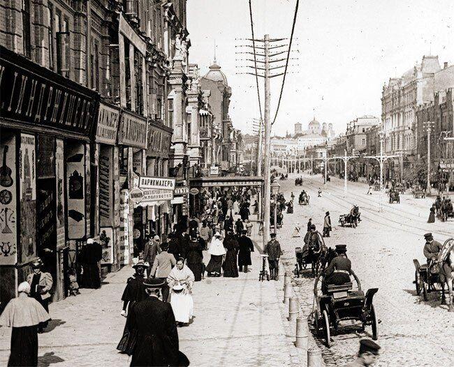 Крещатик в начале 20-го века