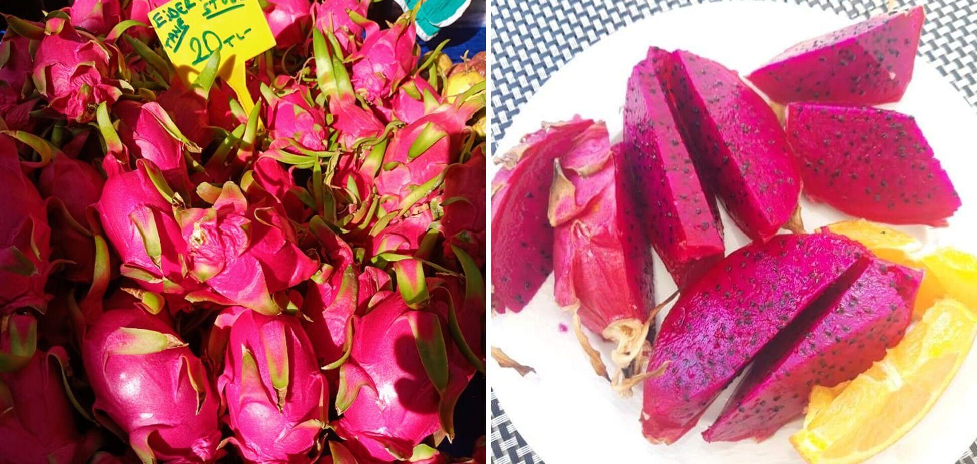 Еще недавно питахайя была экзотикой для Турции, но уже и ее выращивают местные аграрии. Продают примерно по 60 гривен за штуку.