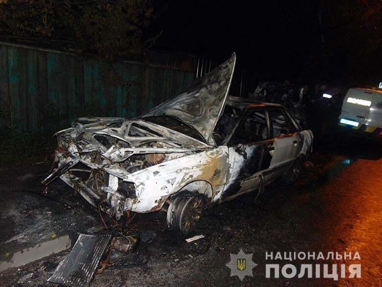 Автомобіль повністю згорів.