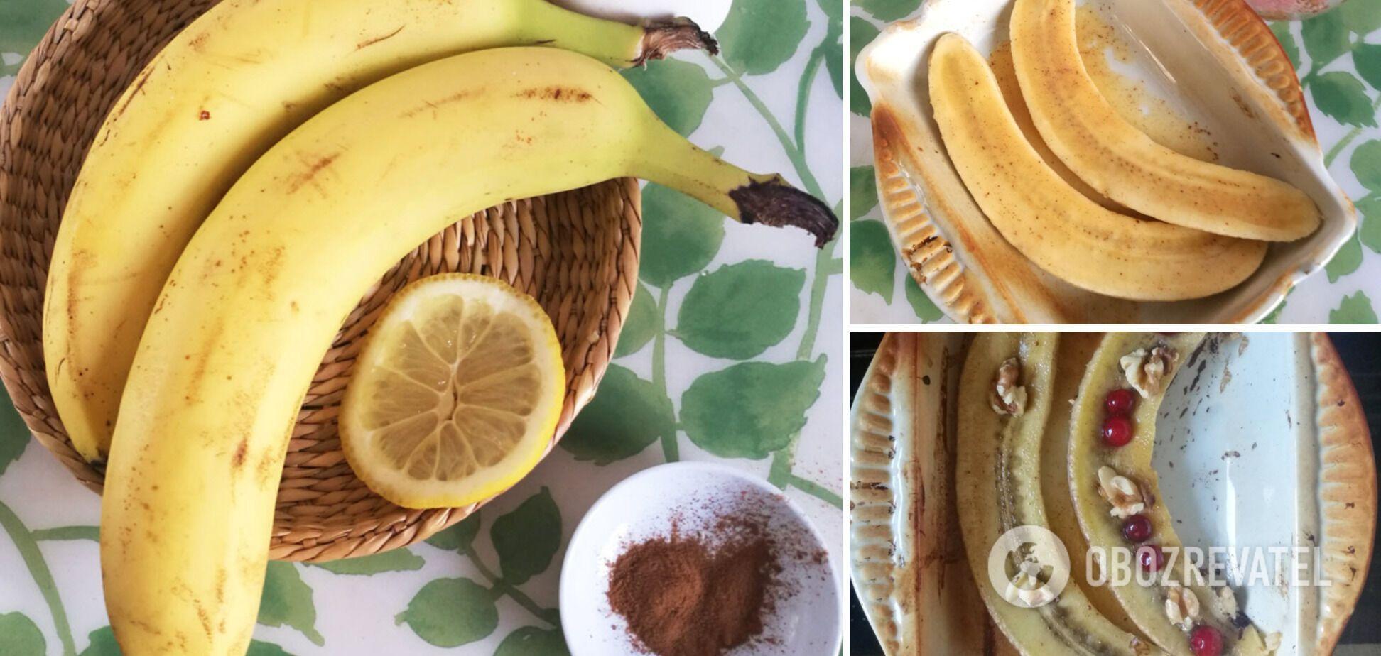 Легкий банановый десерт