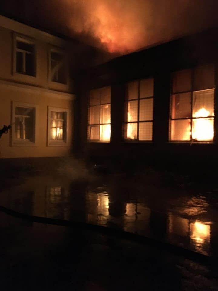 Пожежа в ЗОШ №2 у м. Чугуїв