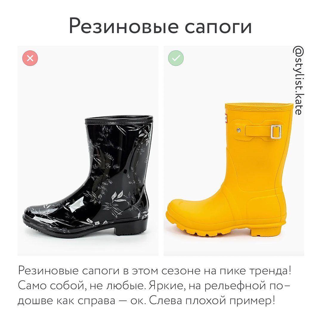 Обувь осень-зима 2021 – резиновые сапоги.
