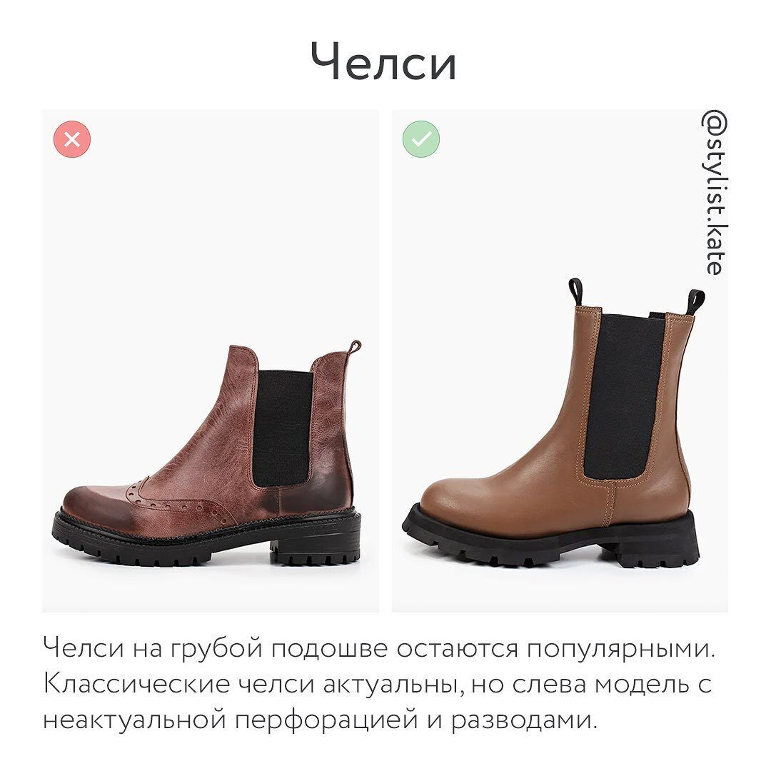 Обувь осень-зима 2021 – челси.