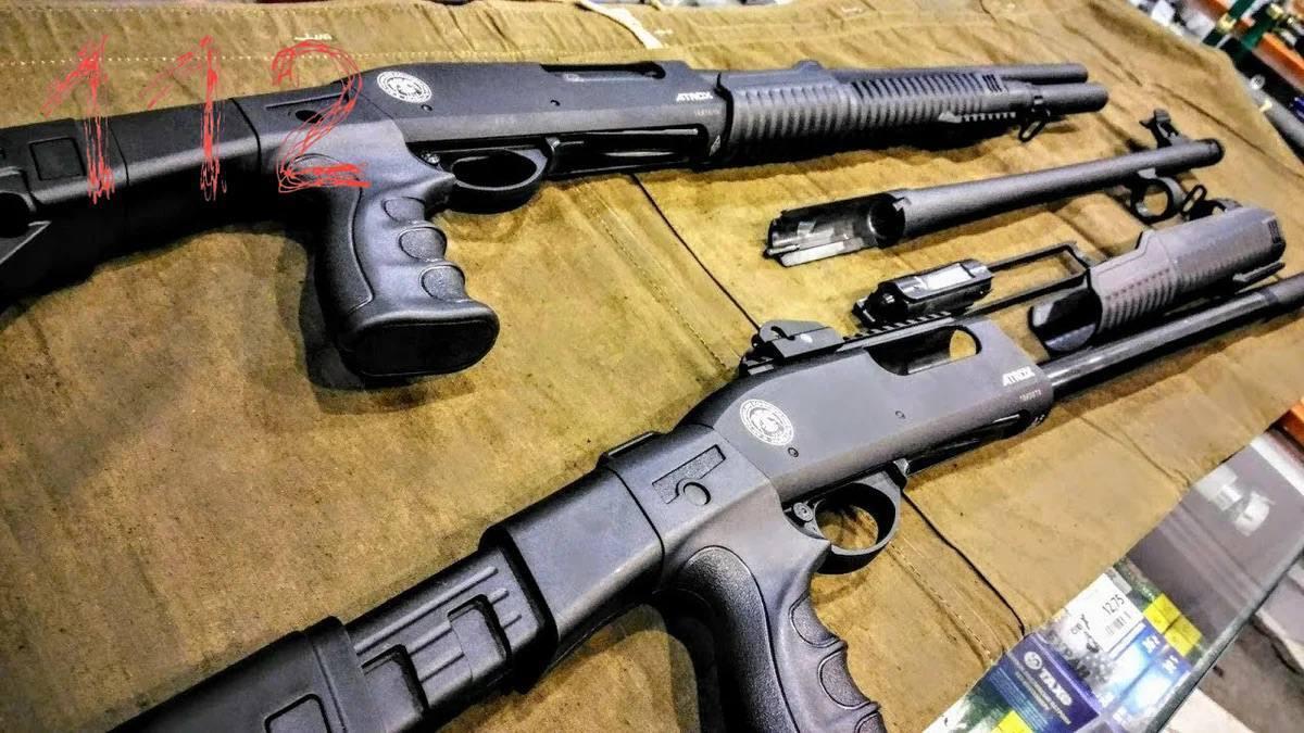 Гладкоствольное ружье Huglu Atrox T Pump Synt 12/76