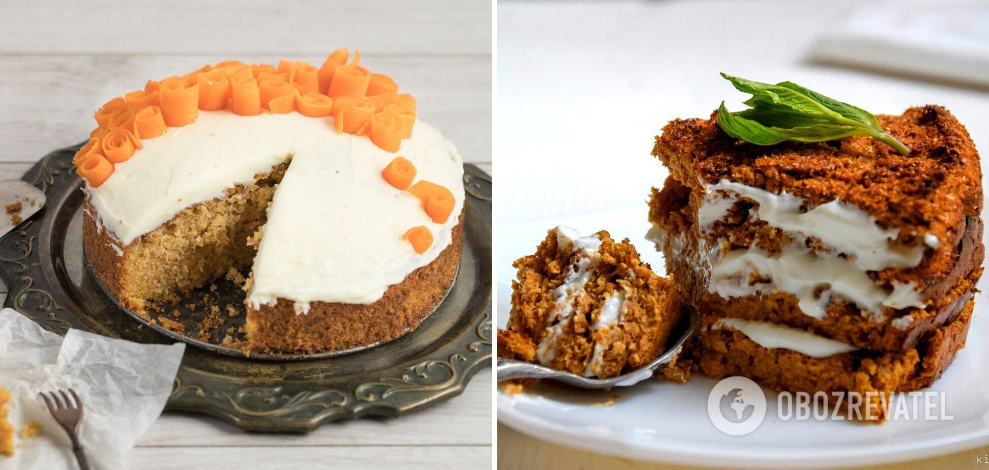 Варианты подачи морковного пирога