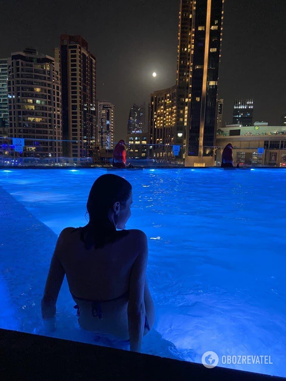 Бассейн в отеле InterContinental Dubai Marina