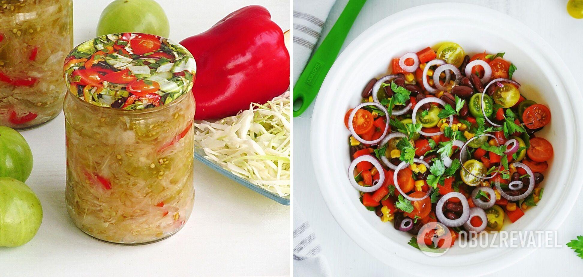 Салат із зелених помідорів без стерилізації
