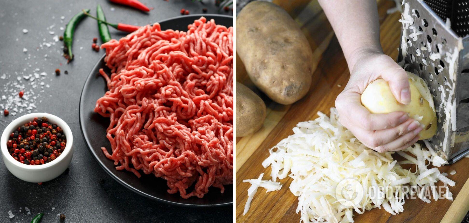 Фарш і картопля