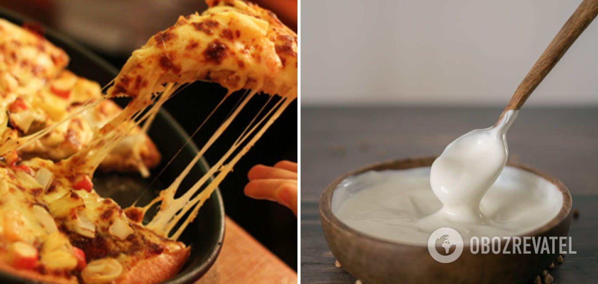 Піца на сметановому тісті