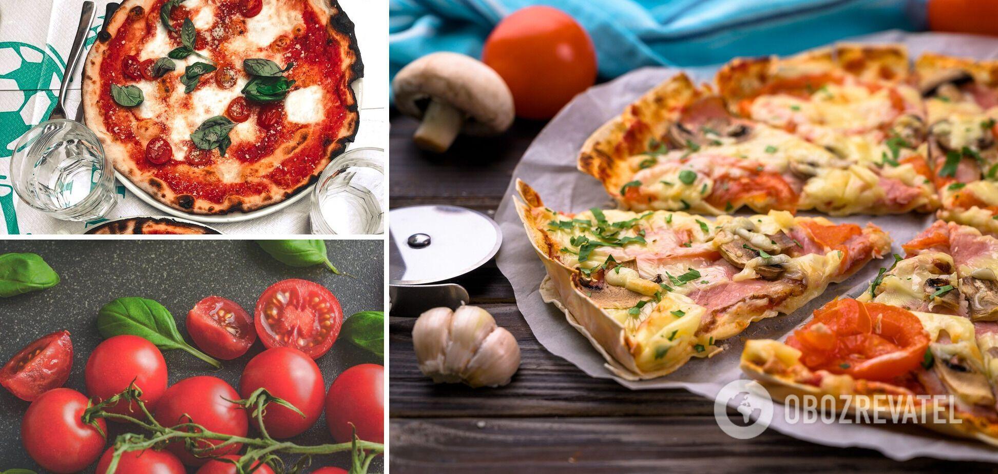 Піца на лаваші з помідорами і моцарелою