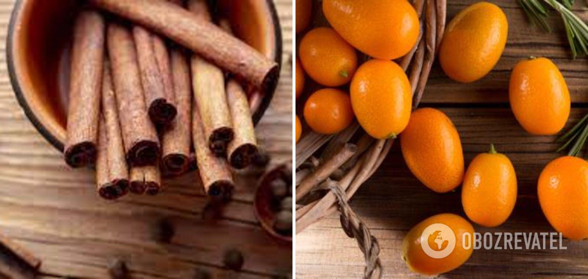Корица и кумкват – ингредиенты для чая