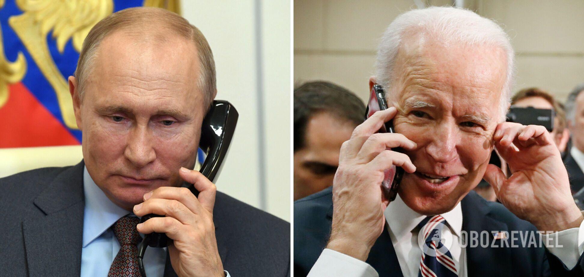 """Путін відповів Байдену на """"вбивцю"""" в телефонній розмові 13 квітня"""