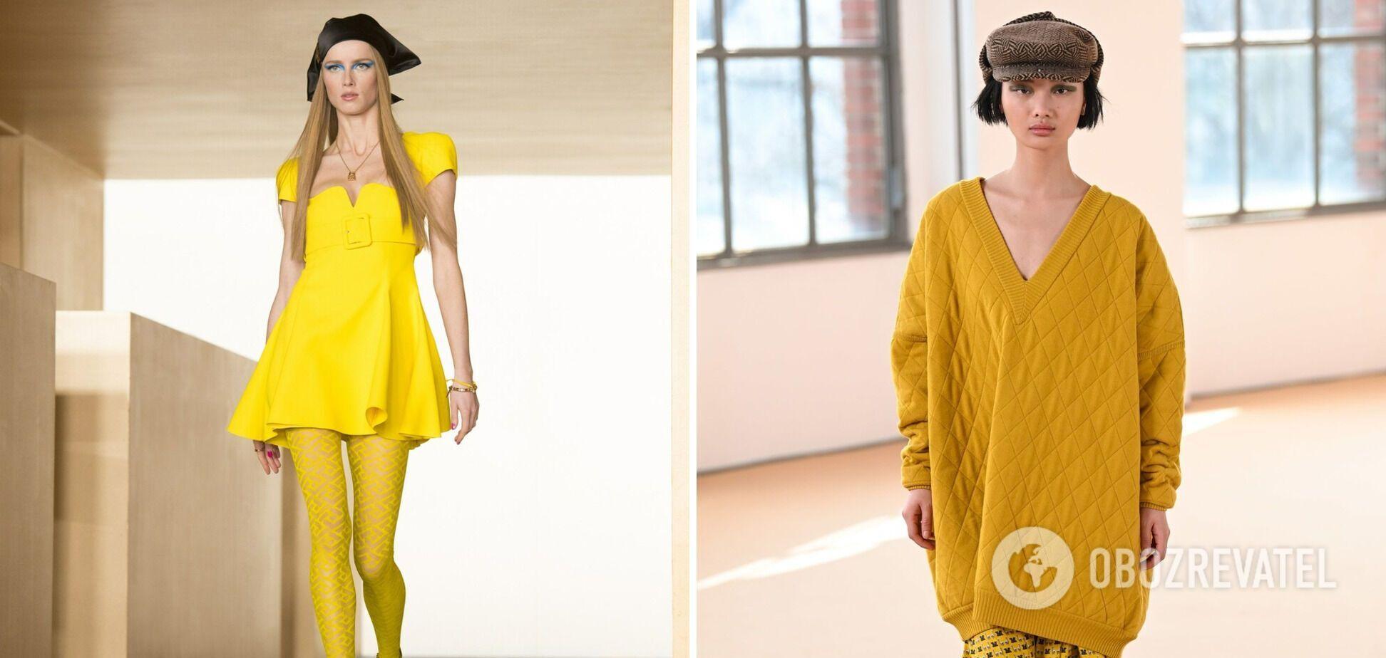 Жовтий на показах світових дизайнерів.