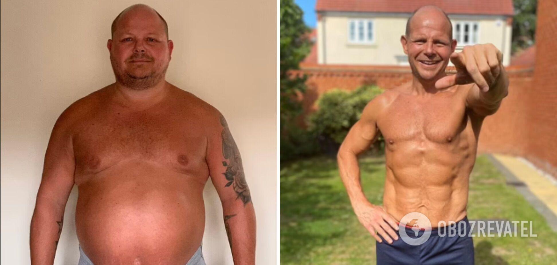 Скот Росс до и после похудения