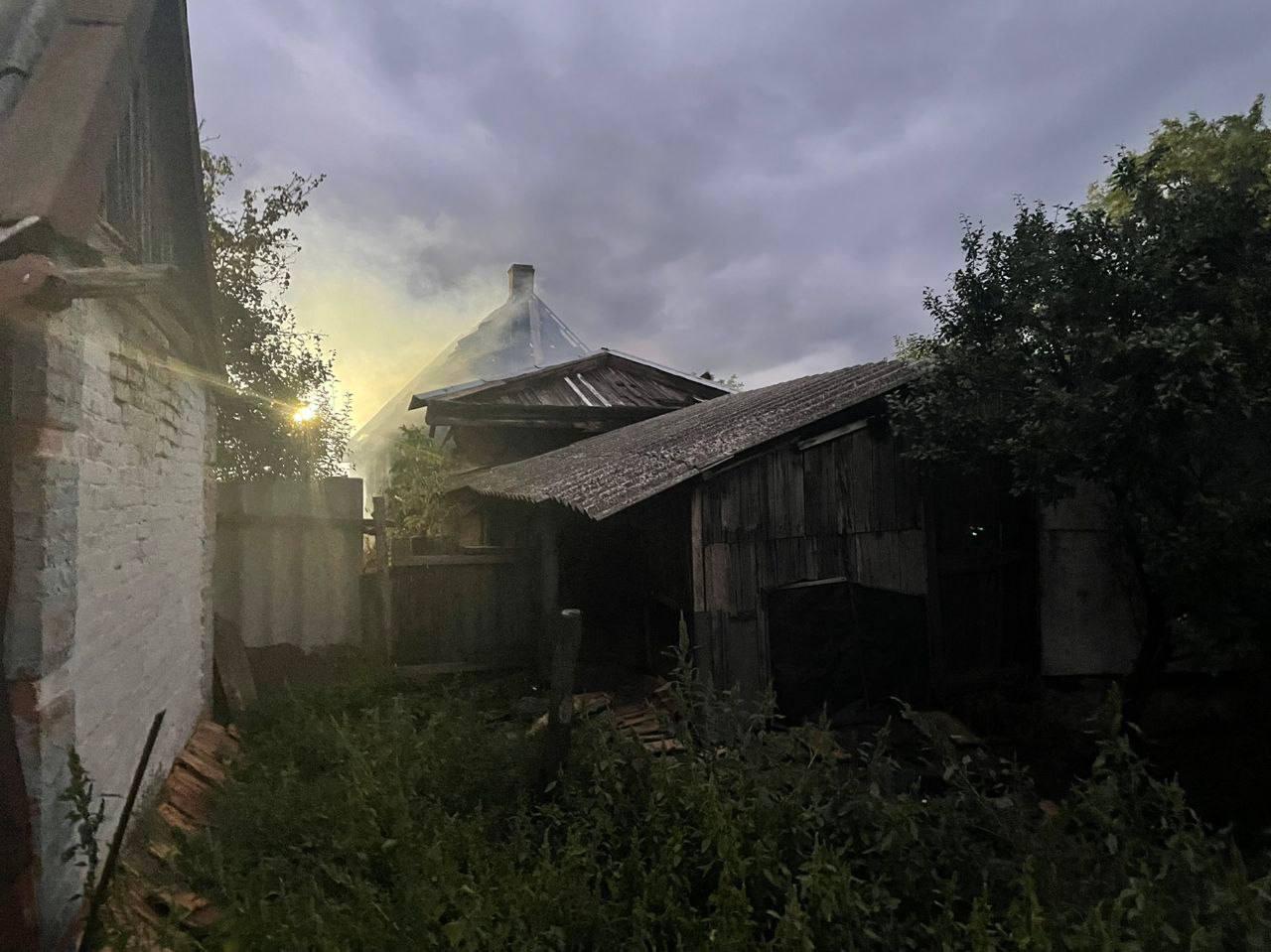 Взрыв в частном доме Токмака
