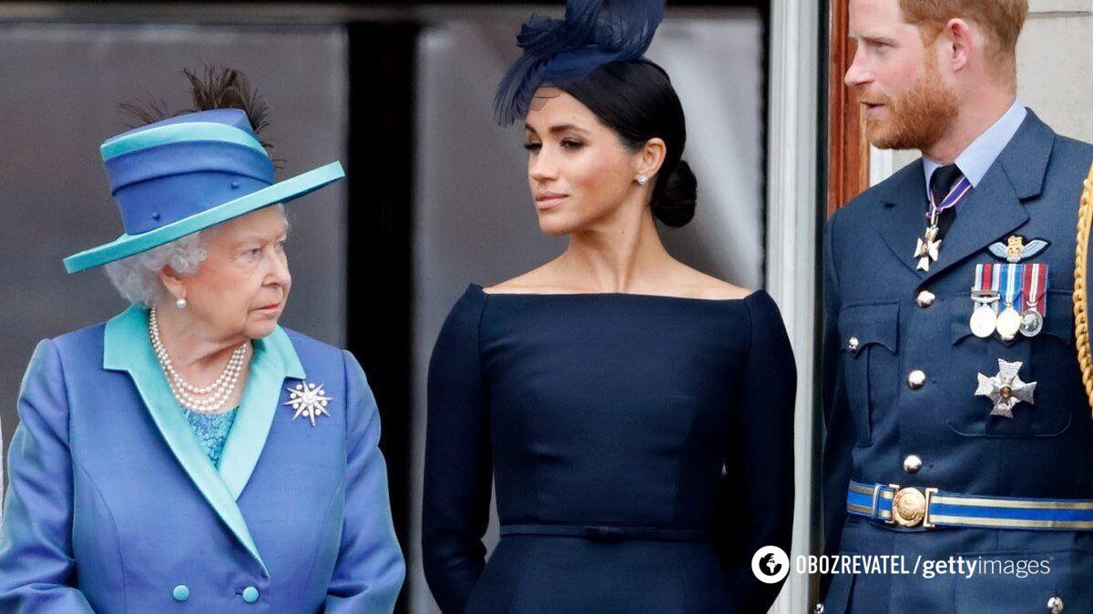 Королева Великобританія, Меган Маркл і принц Гаррі.