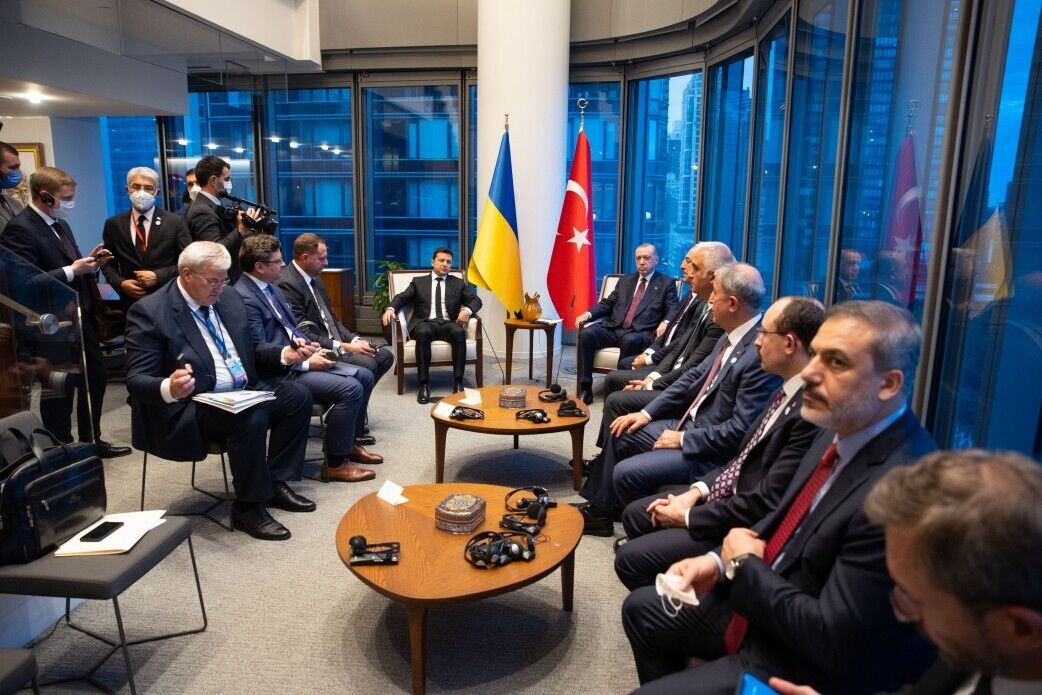 Зеленский на встрече в штаб-квартире ООН.