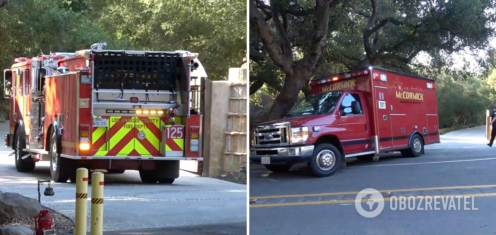До особняка голлівудської зірки в Каліфорнії під'їжджали пожежні машини.