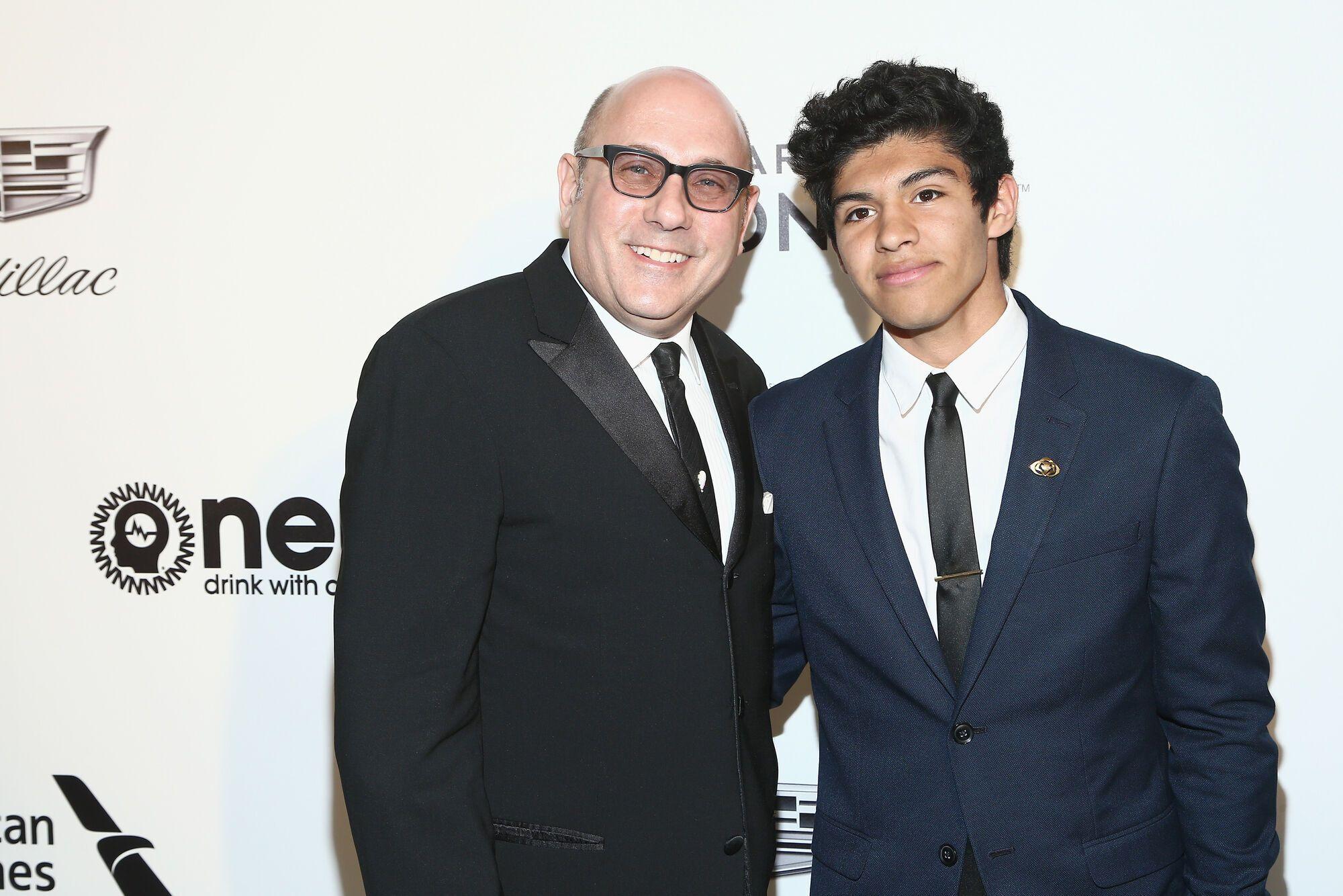 57-летний Уилли Гарсон и его сын