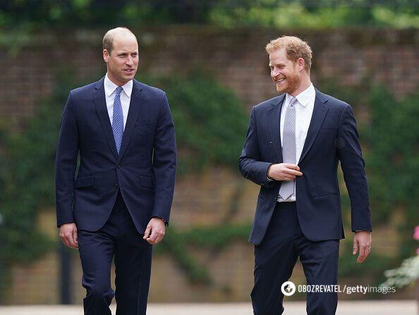 Принци Гаррі та Вільям.