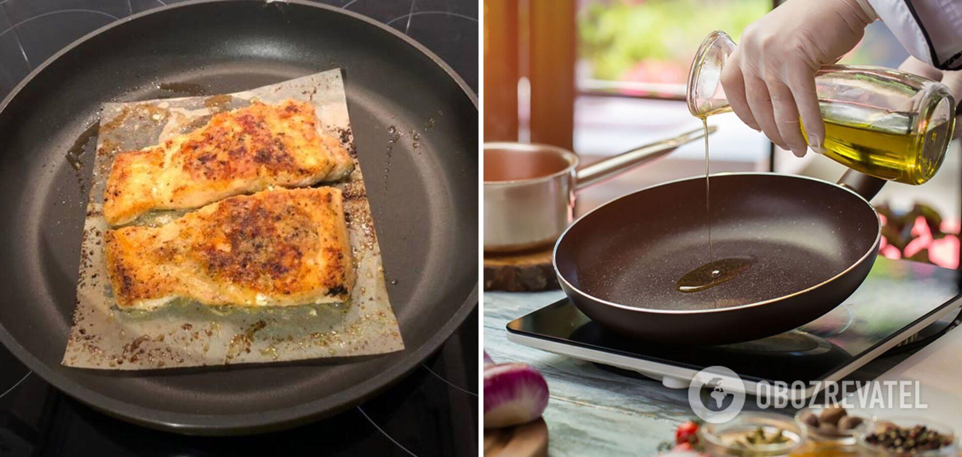 Избежать пригорания пищи поможет пергамент и масло