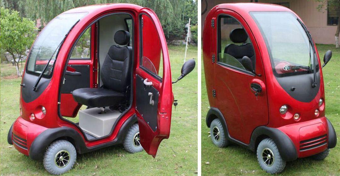 Скутер важить всього 230 кг і може перевозити одну людину на відстань до 60 км зі швидкістю до 40 км/год.