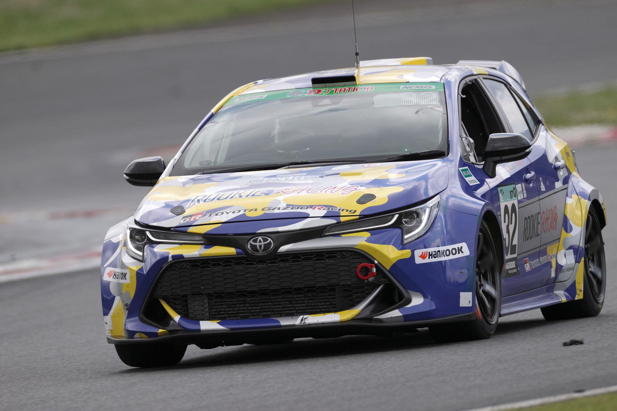 Водородная Toyota Corolla в этом году принимала участие в 24-часовых гонках Fuji SUPER TEC