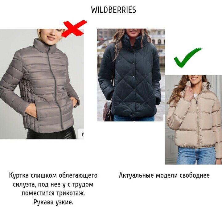 Пример облегающей куртки.