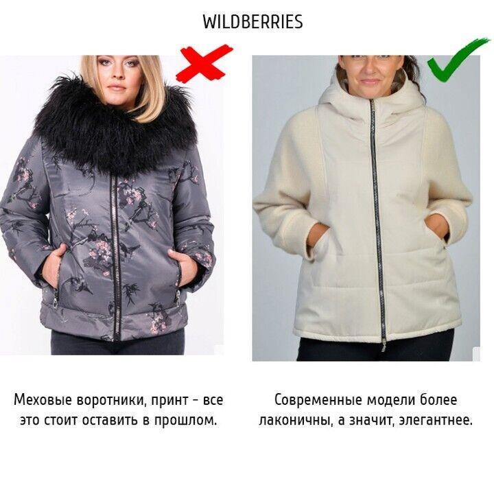 Пример куртки с принтом или мехом.