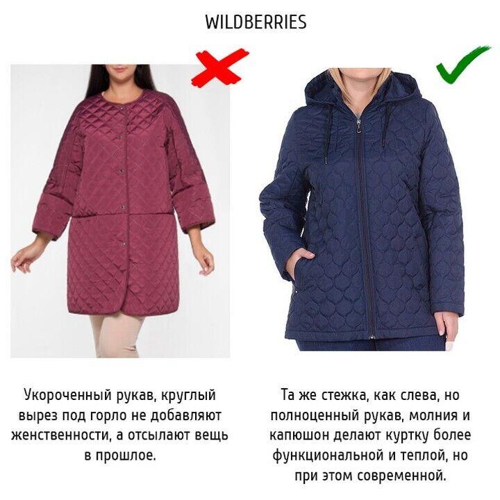 Пример куртки с укороченным рукавом.