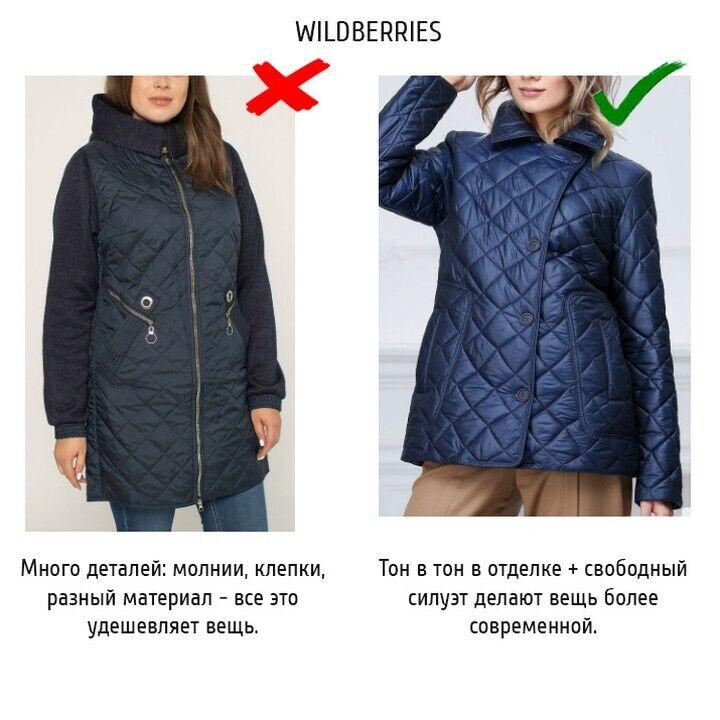 Пример куртки с множеством деталей.