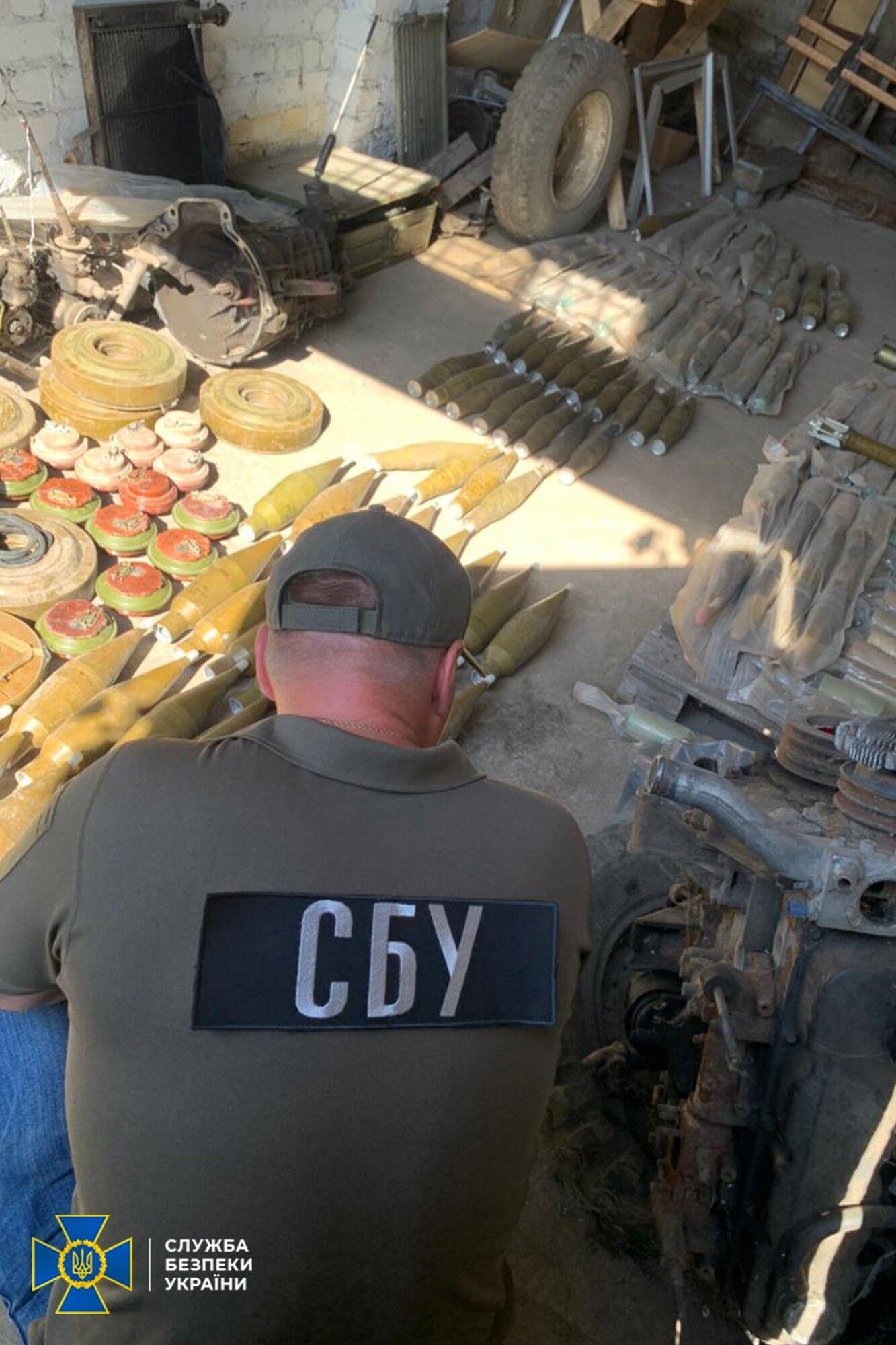 СБУ знайшла в схроні боєприпаси