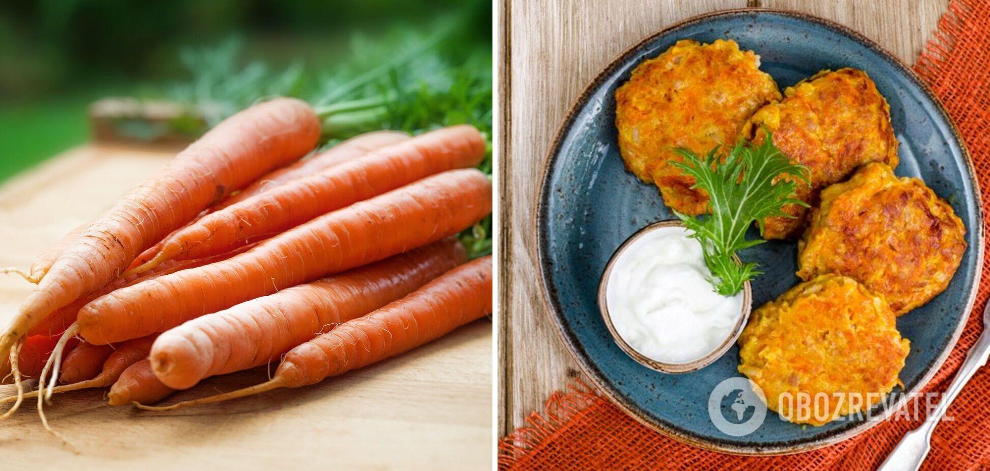 Деруны из моркови