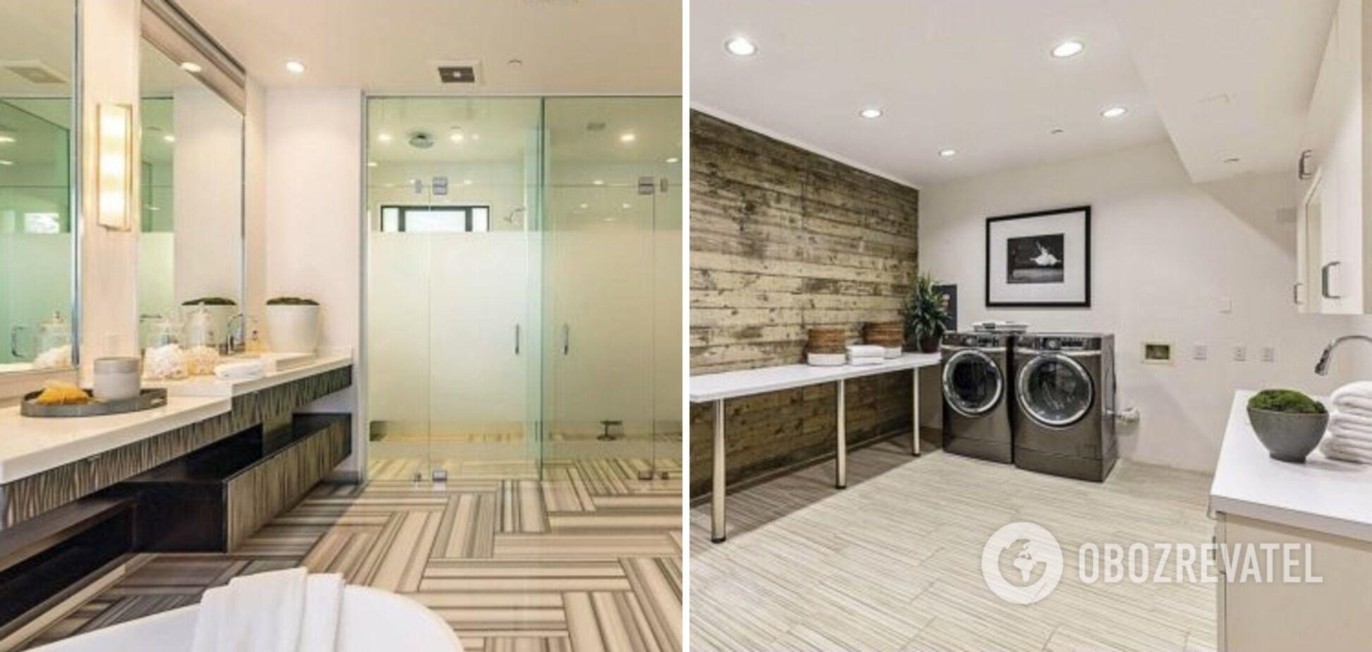 Туалет и комната для стирки.
