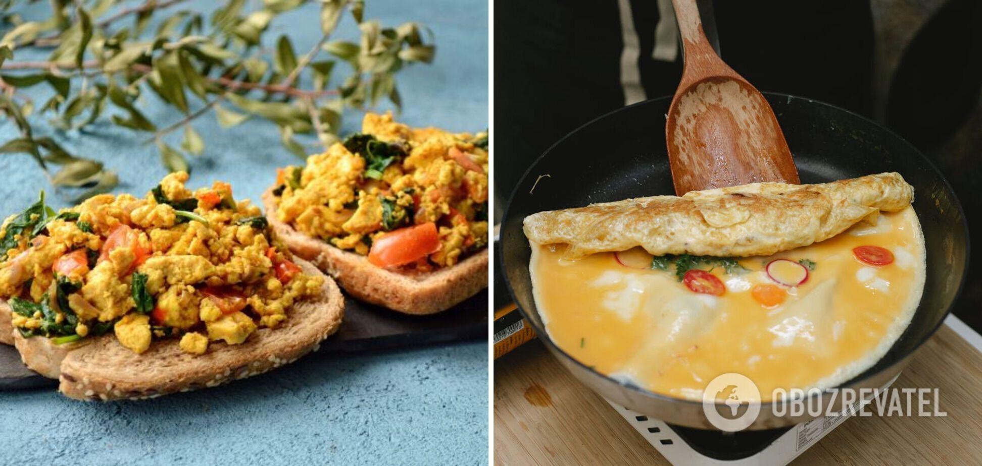 Скрембл та яєчня-бовтанка – 2 види омлету