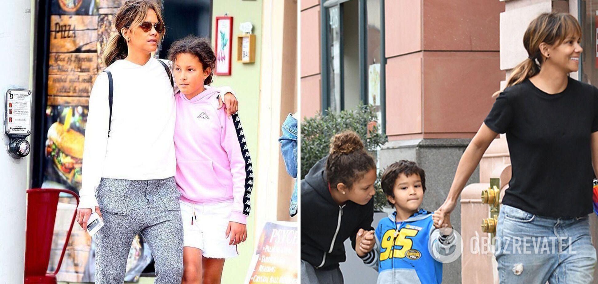 Холлі Беррі на прогулянці з дітьми
