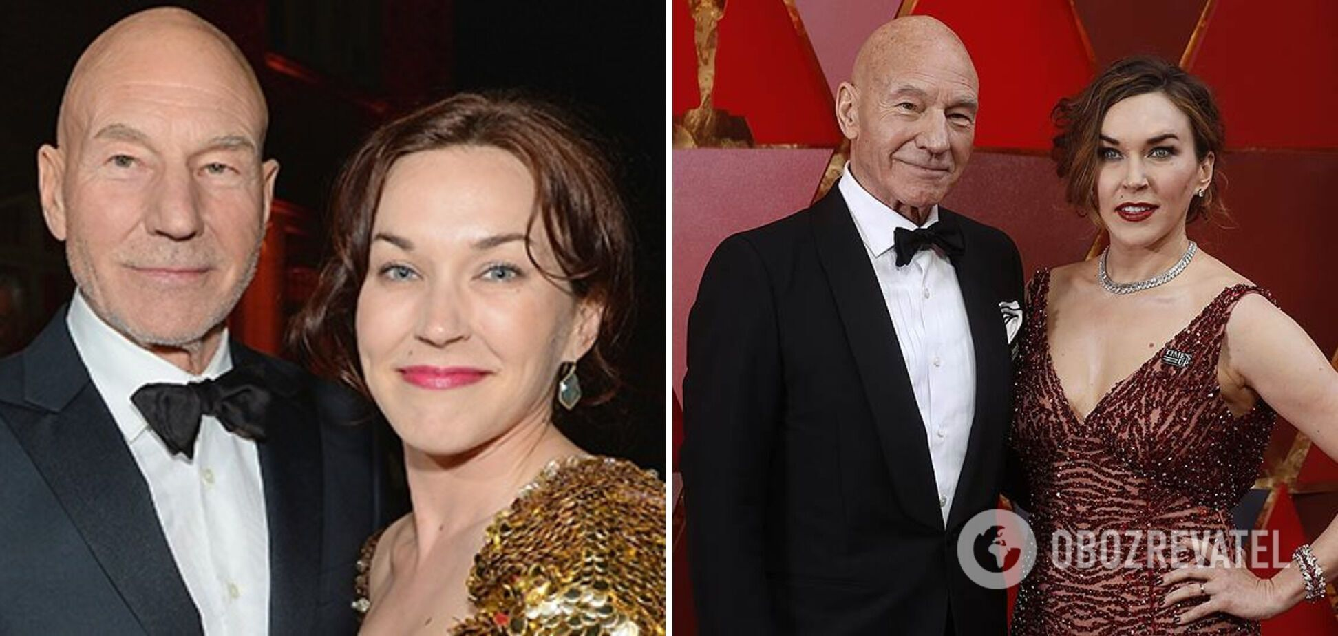 Патрик Стюарт и Санни Озелл с разницей в возрасте 37 лет.