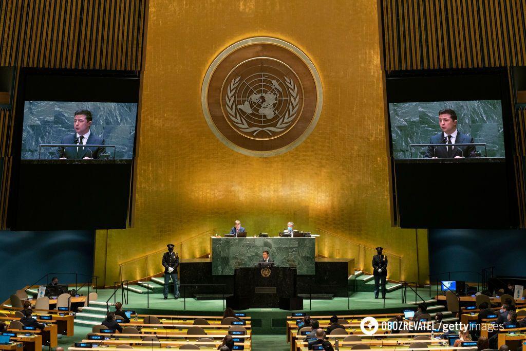 Зеленский выступил в ООН