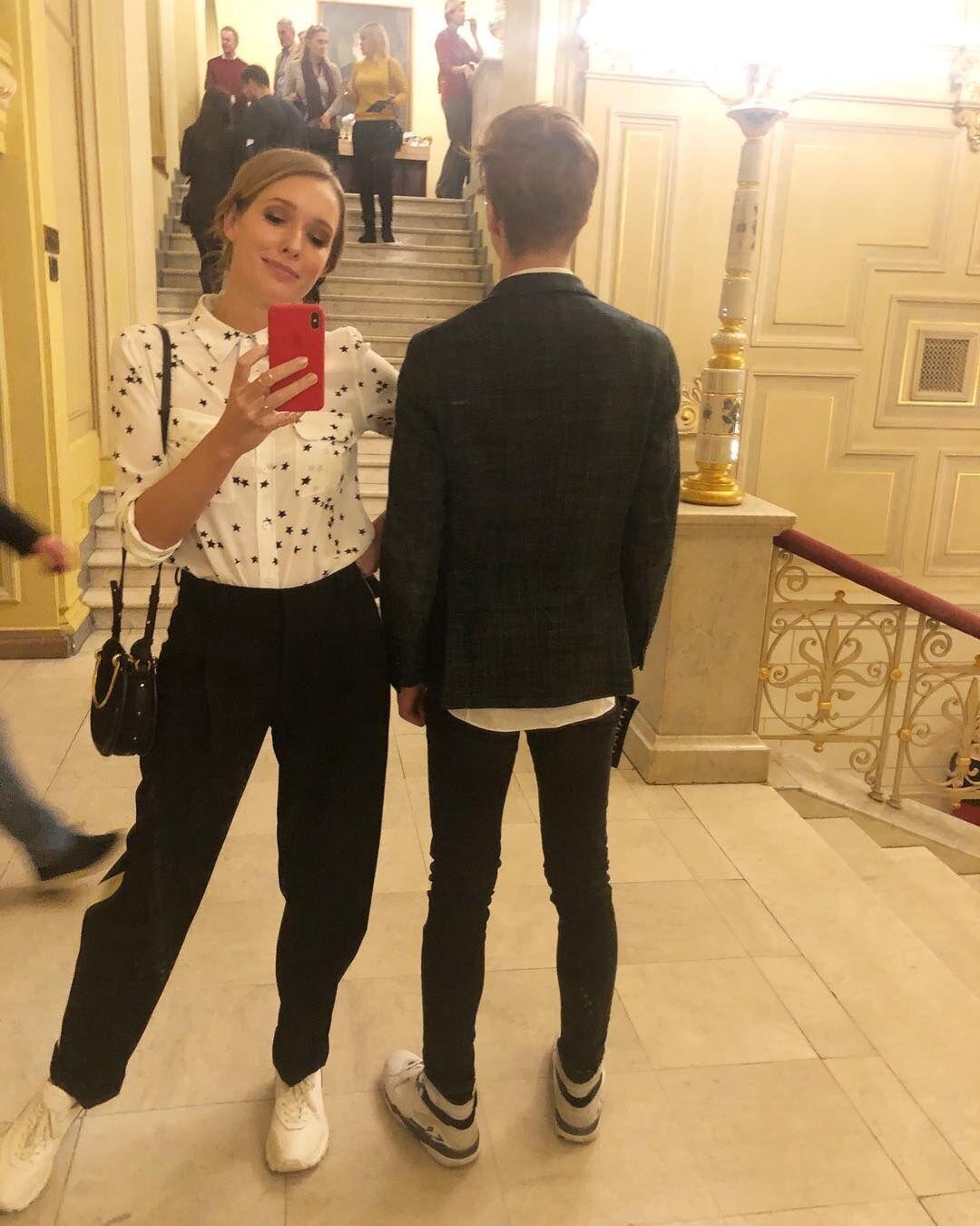 Осадчая и ее сын Илья