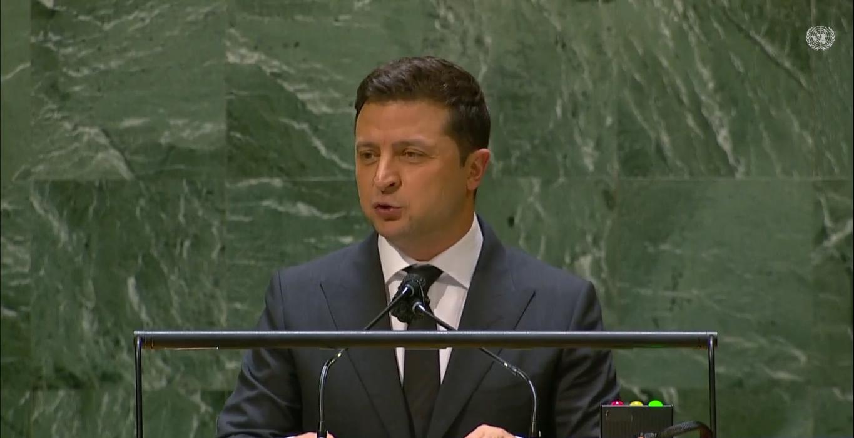 Глава Украины на выступлении
