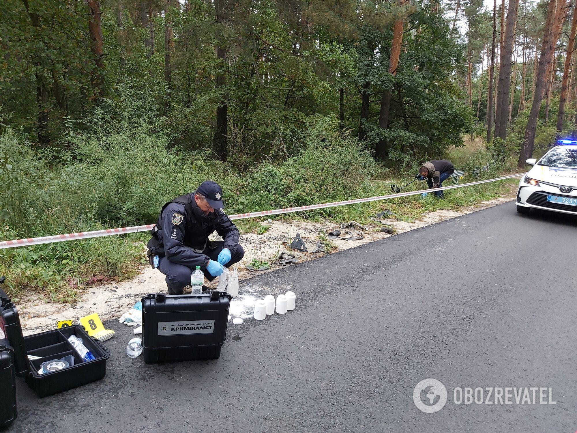 Стрелок произвел выстрелы из леса под Киевом