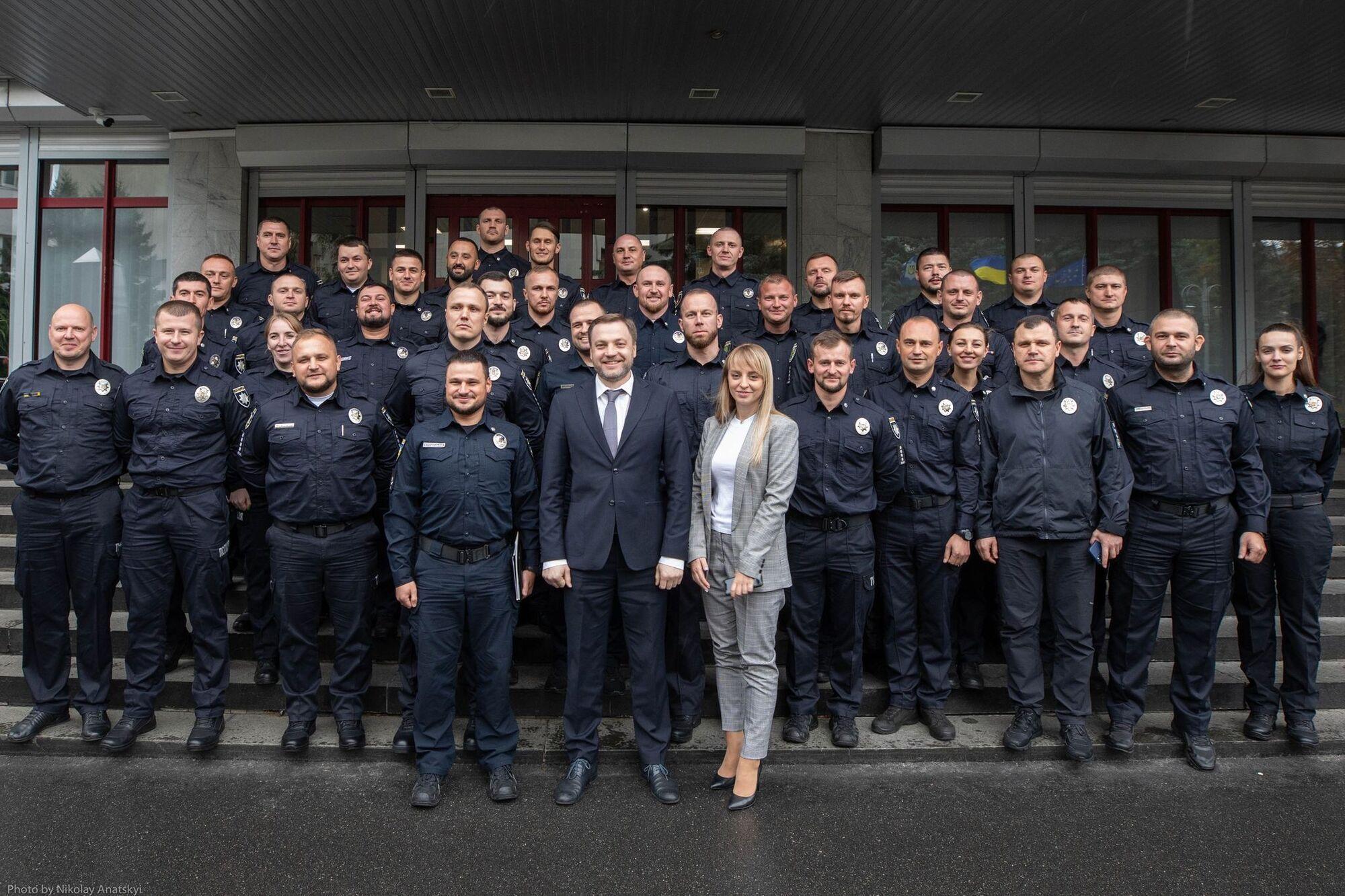 Денис Монастирський та керівники підрозділів патрульної поліції