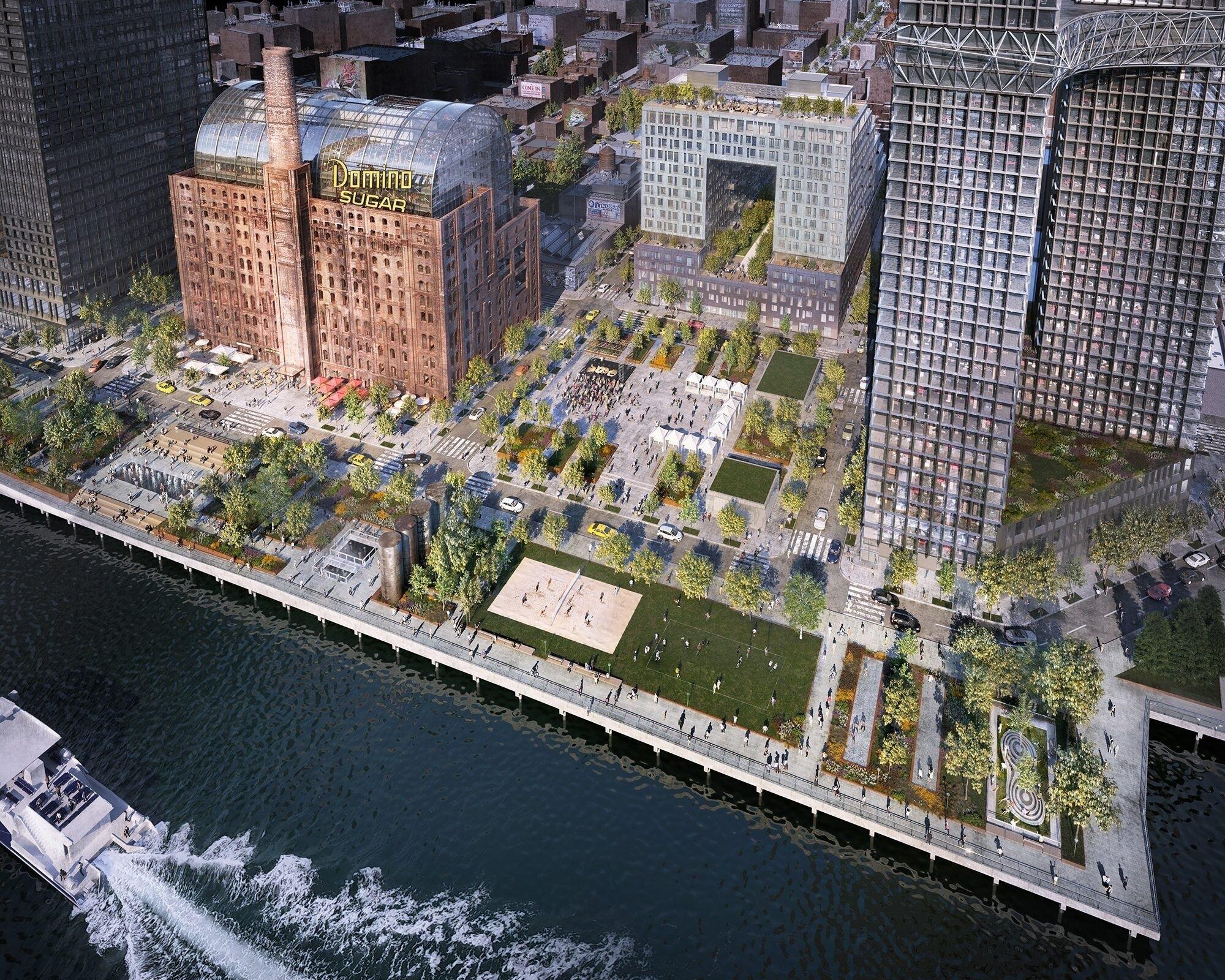 У Нью-Йорку на місці колишнього цукрового заводу з'явилися житловий квартал і парк Domino