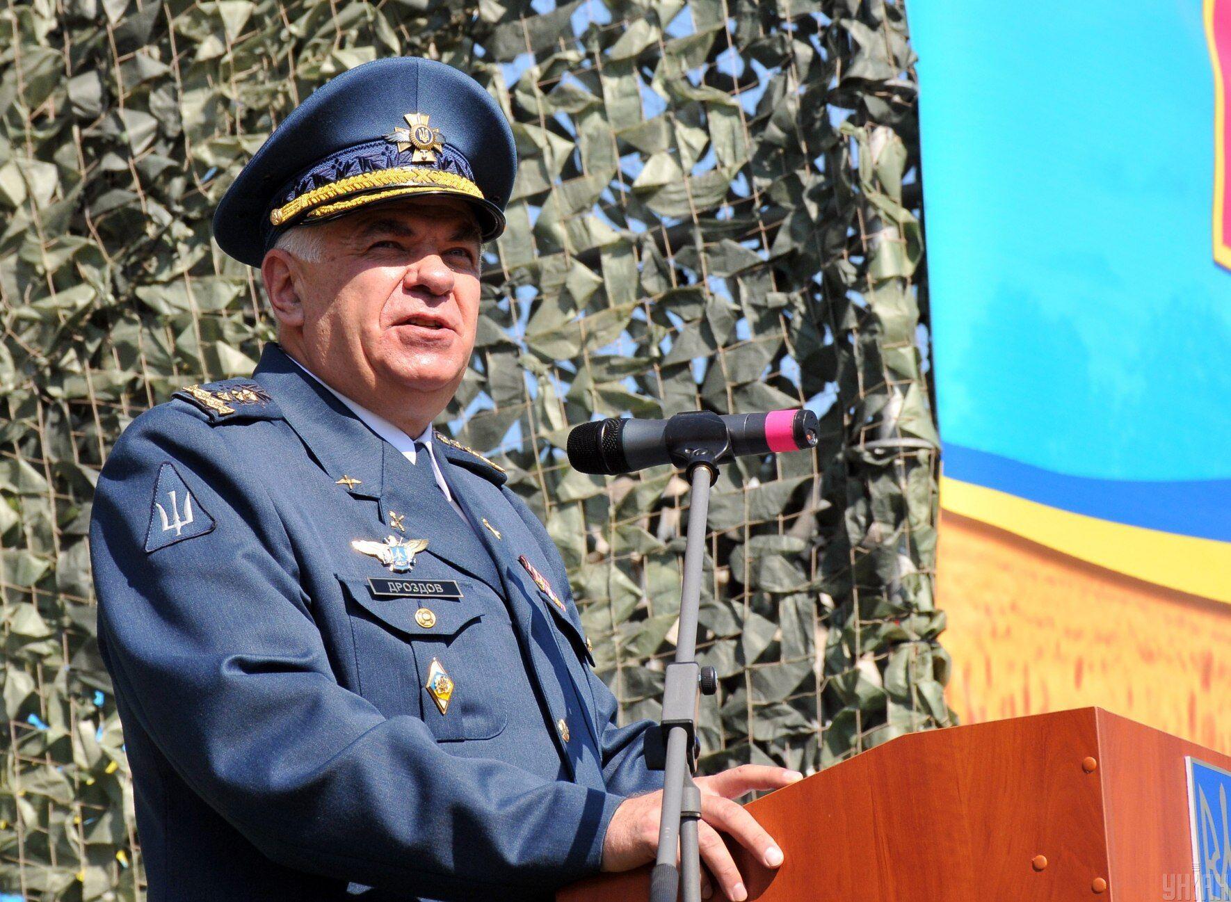 Сергій Дроздов на церемонії випуску лейтенантів в ХНУПС, 26 червня 2020 року