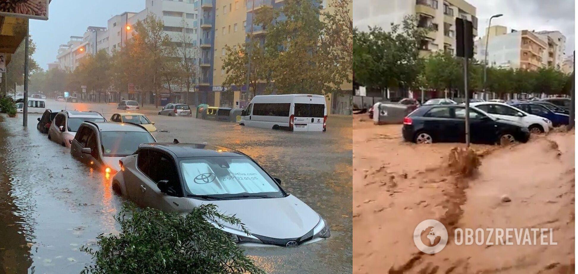 В Испании мощные ливни вызвали наводнение