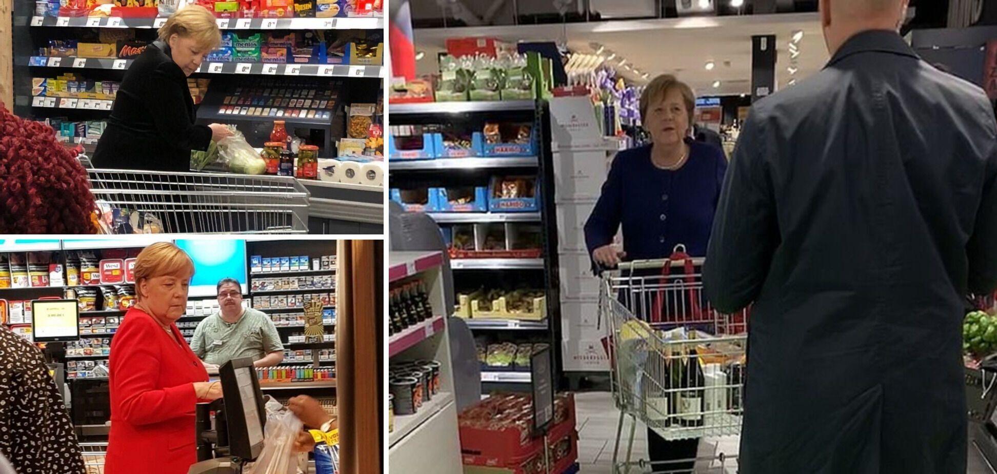 Меркель в магазине